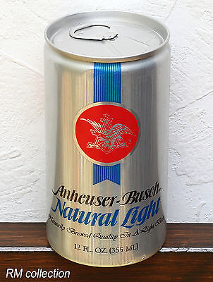 ANHEUSER-BUSCH 1970s American beer can bottom opened