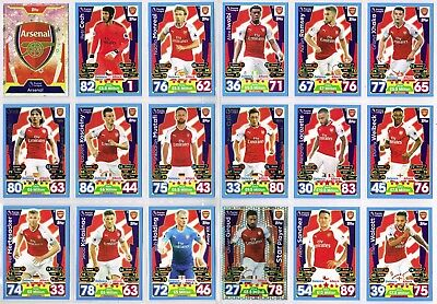 MATCH ATTAX 2017-2018 ☆☆☆☆☆ ARSENAL ☆☆☆☆☆ Football Trading Cards