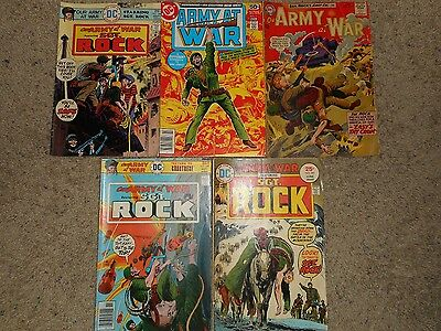 Lot of 5 DC Our Army at War Vintage Comic Books