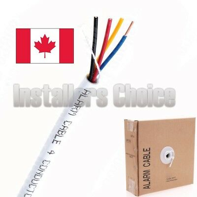 22 AWG 4 conductor Cable 500FT Solid White 22/4 alarm security speaker wire
