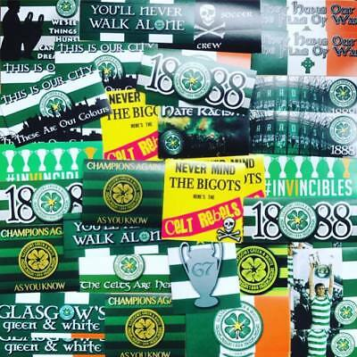 100 x Celtic Stickers Based on Ultra Scarf Glasgow Lisbon St Pauli CSC Paradise