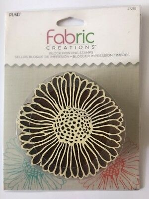 Plaid Fabric Creations Block Printing Stamps Vintage Daisy 27210 New/Sealed