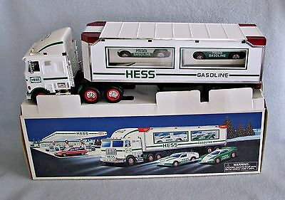 1997 Hess Toy Truck And Racers - New In Box   Vgc!