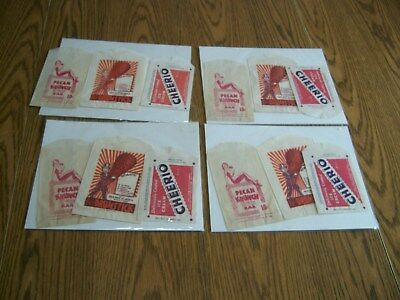 lot of 12 vintage ice cream wrappers polar brand cheerio joe lowe advertisement
