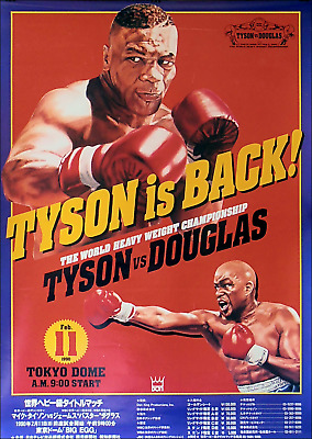 Mike Tyson Set Job Lot X 5 Early Boxing Posters Laminated 11 X 8 Inch Spinks Etc