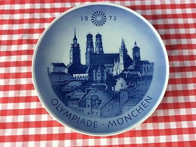 Royal Copenhagen Blue & White 1972 Munich Munchen Germany Olympics Plates