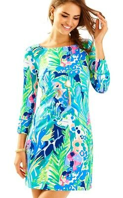 d8f05f7935479f LILLY PULITZER SOPHIE Dress Multi Tropical Storm Upf 50+ Size L New ...