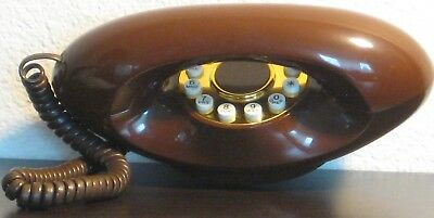 Genie Vintage Touchtone Telephone - Chocolate Brown American ATC