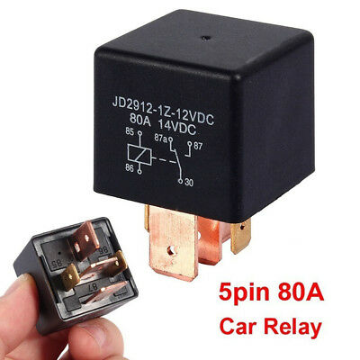 Electrical Components Boat 5Pin Relay Truck Charge Split Black AMP DC 12V 80A