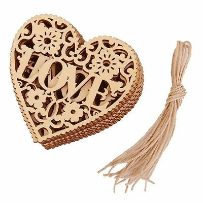 Embellishment Hanging Ornament Wooden Craft Decor Home Wedding Embellishments