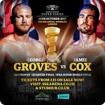 George Groves Vs Jamie Cox Fight Poster Fridge Magnet
