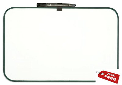 Quartet Dry-Erase Board, 11 x 17 Inches, Plastic Frame, Assorted Frame Colors -