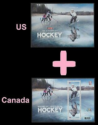 US Canada 5253b History of Hockey 2 souvenir sheet MNH 2017