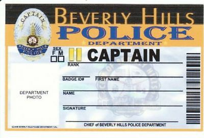 Captain of Beverly Hills Police Department Dienstausweis