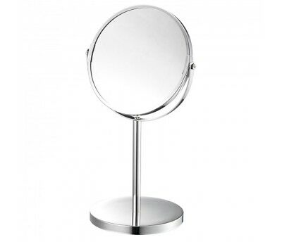 Double Sided Round Chromed Magnifying Cosmetic Shaving Bathroom Swivel Mirror Ne