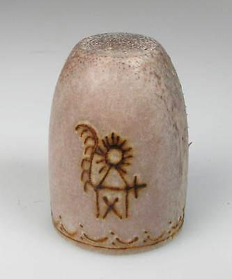 thimble reindeer horn decorated with fertility god Finland