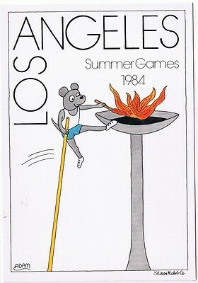 Olympic Flame - 1984 Los Angeles Summer Olympics Xxiii Postcard Unused # 4