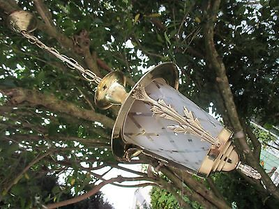 Vintage In Brass Beautiful Ceiling Sconce Lamp Complete Light Ready To Use