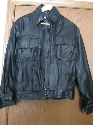 Elvis' 68 Comeback Special Mens Medium Black Lambskin Leather Jacket