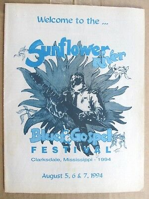 Sunflower River Blues & Gospel Festival 1994 Program, Clarksdale, Mississippi