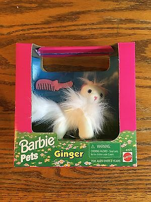Barbie Pets Ginger White Cat Longhair New In Box 1996