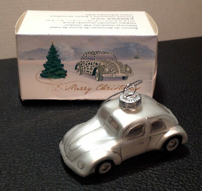 Hand Painted Blown Glass Classic VW Beetle Christmas Ornament Volkswagen Germany