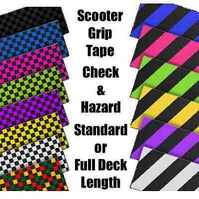 SCOOTER GRIP TAPE - CHECK & HAZARD - STANDARD LENGTH or FULL DECK LENGTH