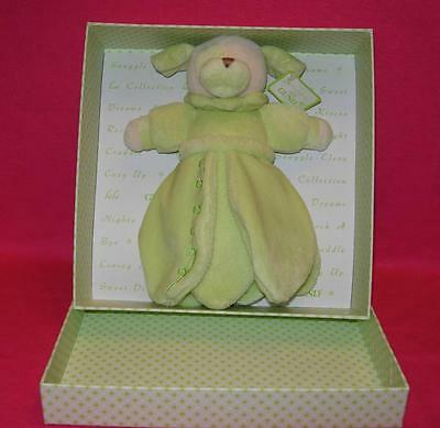 Baby Gund La Collection Bebe PETAL BLANKET DOG Pistachio in Gift Box