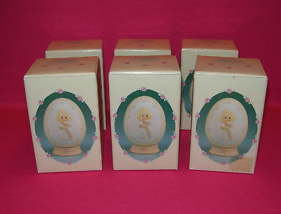 Wholesale Lot of 6 PRECIOUS MOMENTS Cherish the Old Rugged Cross EGG dated 1991