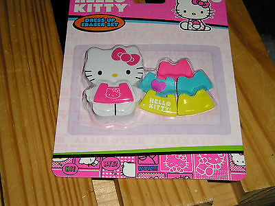 Hello Kitty Dress Up Eraser Set. New. GREAT for School or Home. CUTE GIFT
