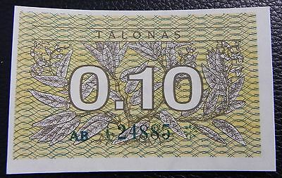 LITHUANIA - 0.10 talonas - 1991 - Pick 29a