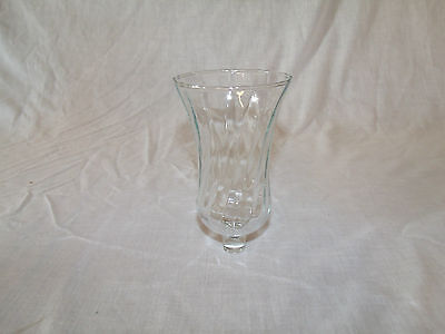 1 Tall Clear Glass Swirl Pattern Vintage Home Interior Votive Cup Candle Holder