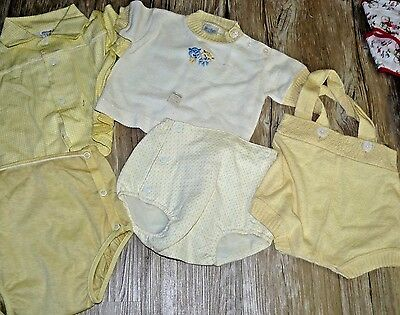 Vintage Yellow 1950s Knit 5 piece Infant- Toddlers sets