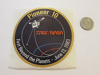 NASA Pioneer 10 1983 First Beyond the Planets Decal / Sticker