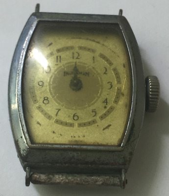 Vintage Ingraham USA Men's Watch Parts/Repair Art Deco Antique
