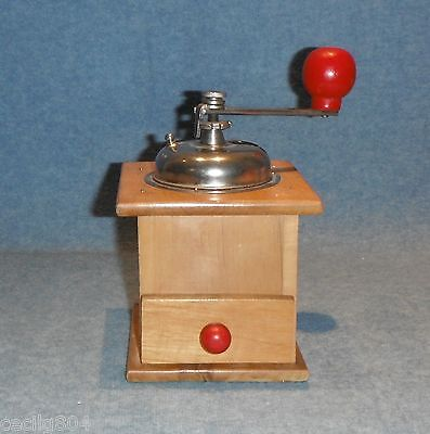 Vintage Red Decor Coffee Grinder Made In Italy