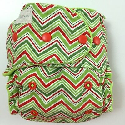 Binky D Hybrid Fitted One Size Cloth Diaper Christmas Chevron