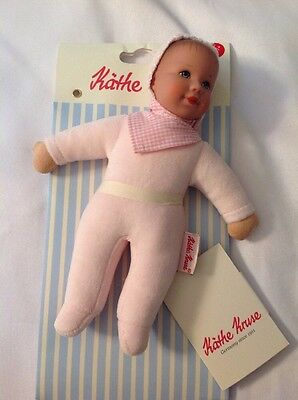 Kathe Kruse - Little Puppa Doll, Rose-New but Missing blanket