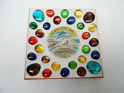Ocean City MD Tourist Ashtray, White Marlin, Boardwalk train, famous beach, etc