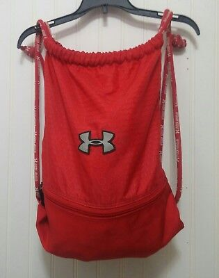 Under Armour UA Red Drawstring Backpack Sack Pack Gym Bag