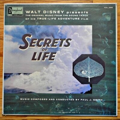 Disney Secrets of Life Children's Record Album Circa 1960's Disneyland WDL-4006