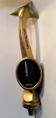 "Unibroue La Resolution Big 16"" Gold Devils Tail Beer Tap Handle"