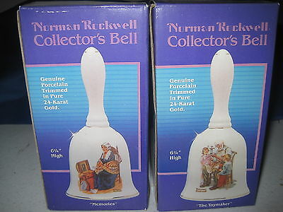 Vintage lot of 8 Norman Rockwell Christmas Collector's Bells