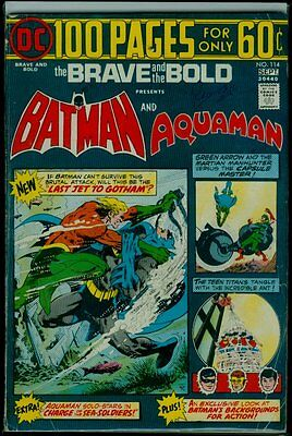 DC Comics The BRAVE And The BOLD #114 BATMAN And AQUAMAN VG 4.5