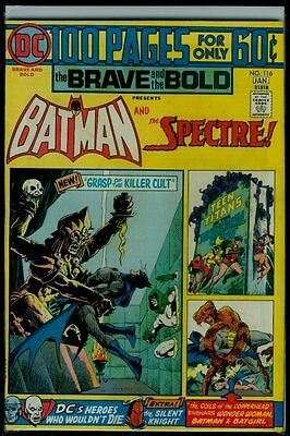 DC Comics The BRAVE And The BOLD #116 BATMAN And The SPECTRE FN+ 6.5