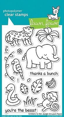 Lawn Fawn Die & Stamp Set - Critters in the Jungle