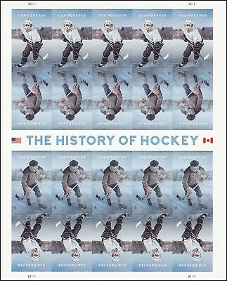 US 5252-5253 5253a History of Hockey forever sheet MNH 2017