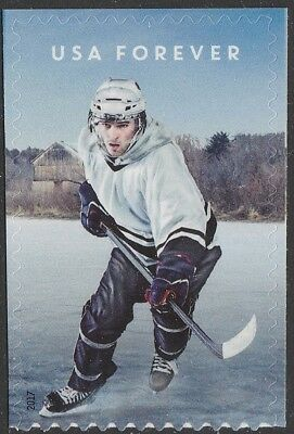 US 5252 History of Hockey Modern forever single MNH 2017 after Oct 27