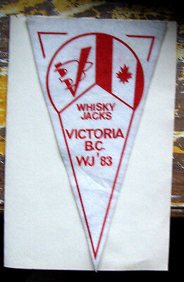 RARE Boy Scout Banner / Pennant  - Whisky Jacks - Victoria, BC WJ '83