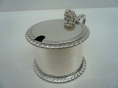 Silver Mustard Pot, Sterling, Vintage, English, Hallmarked 1918